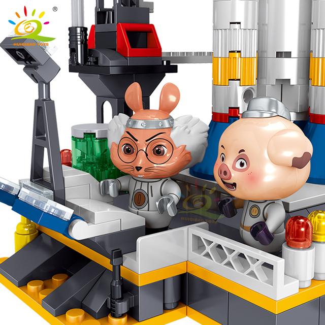 HUIQIBAO 664PCS Space Rocket Launch Base Building Blocks set City Aerospace model Bricks Construction Toys For Children friend