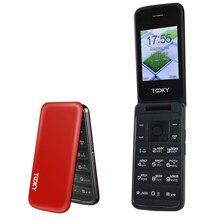 """Flip 2.4 """"ekran orijinal flip ucuz kıdemli cep telefonu büyük klavye telefon yaşlı kapaklı cep telefonları rus H cep"""