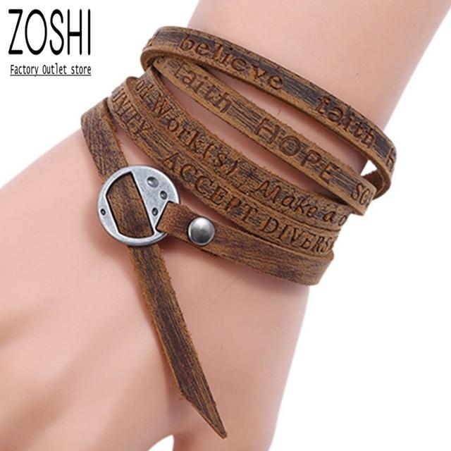 Женские кожаные браслеты в стиле бохо