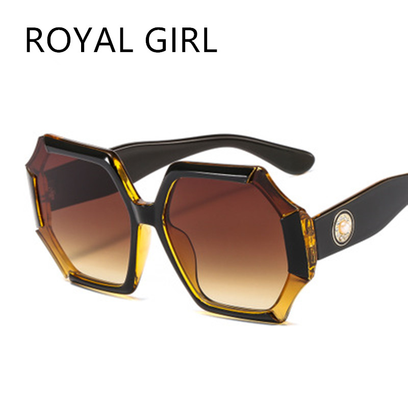 ROYAL GIRL New Arrival 2020 Women Sunglasses Oversized Personality Colorful Gradient Sun Glasses Shades For Women Ss545