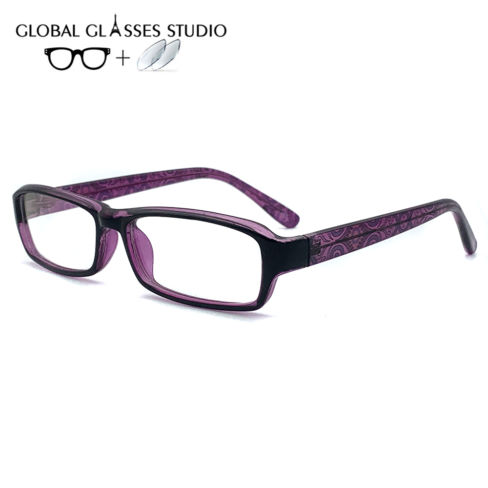 Glasses Prescription-Lens Computer-Frame Woman Eyewear Clear TT-657 Acetate Index High-Quality