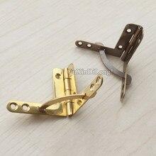 Charnières rétro Vintage en laiton pur, 50 pièces, 30x42mm/41x46mm, pour bricolage, boîtes en bois, bijoux