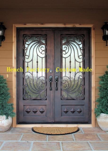 Shanghai Hench Brand China Factory 100% Custom Made Sale Australia Iron Entry Doors With Glass