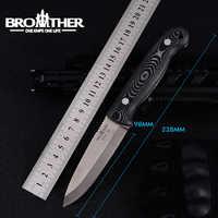 [BROTHER F005] 61HRC D2 klinge Feste Klinge messer Bushcraft Messer Gerade Taktische Jagd Camping hohe qualität EDC werkzeug
