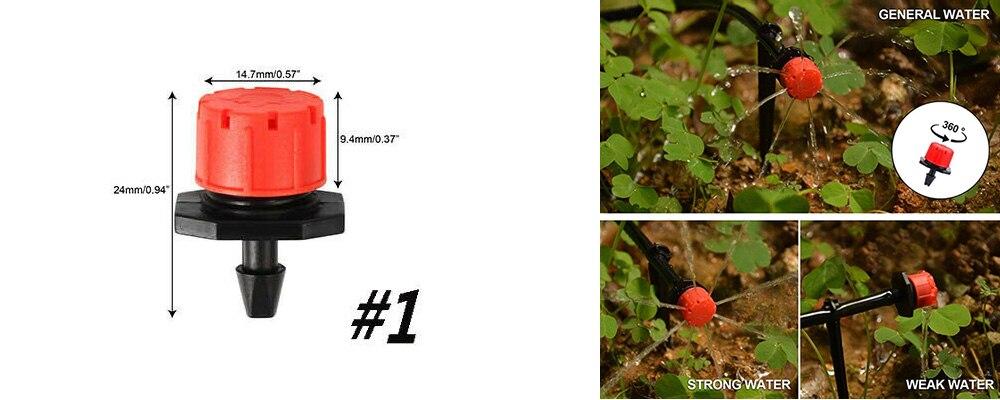 H6353c017df41445fba6f73c008334030N Garden Drip irrigation Hose Connector Spray Sprinkler Automatic Irrigation Garden Irrigation System Autowatering