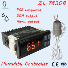 ZL 7830B, 30A relay, 100 240Vac, Digital, Humidity Controller, Hygrostat, with Alarming output, Lilytech