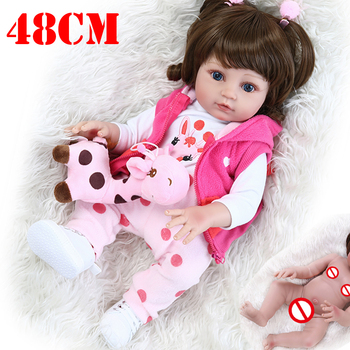 19inch bebe reborn  Full silicone reborn baby dolls toys for children Christmas gift real newborn baby dolls alive NPK