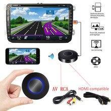 Для автомобиля Airplay Miracast Mira экран Wifi беспроводной дисплей Dongle AV RCA HDMI-совместимый стример зеркало тот же экран потоковый литой