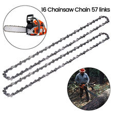 "2pcs 16 Inch Chainsaw Chain Bar Pitch 3/8"" Blade Wood Cutting 57 Drive Links Replacement Parts Chainsaw Spares for Electric Saw(China)"