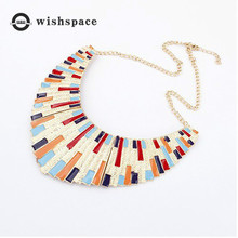 цена Europe and the United States exaggerated color matching necklace red black fashion jewelry wholesale онлайн в 2017 году