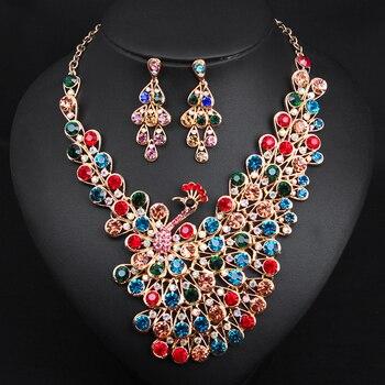 Luxurious Peacock Bridal Jewelry Set 1