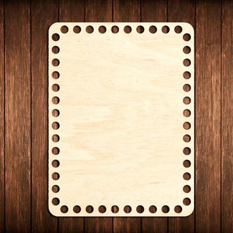 20 Pieces Rectangle Unfinished Wooden Basket Wood Base Wood Crafts Crochet Basket Base Bottom 20*14cm