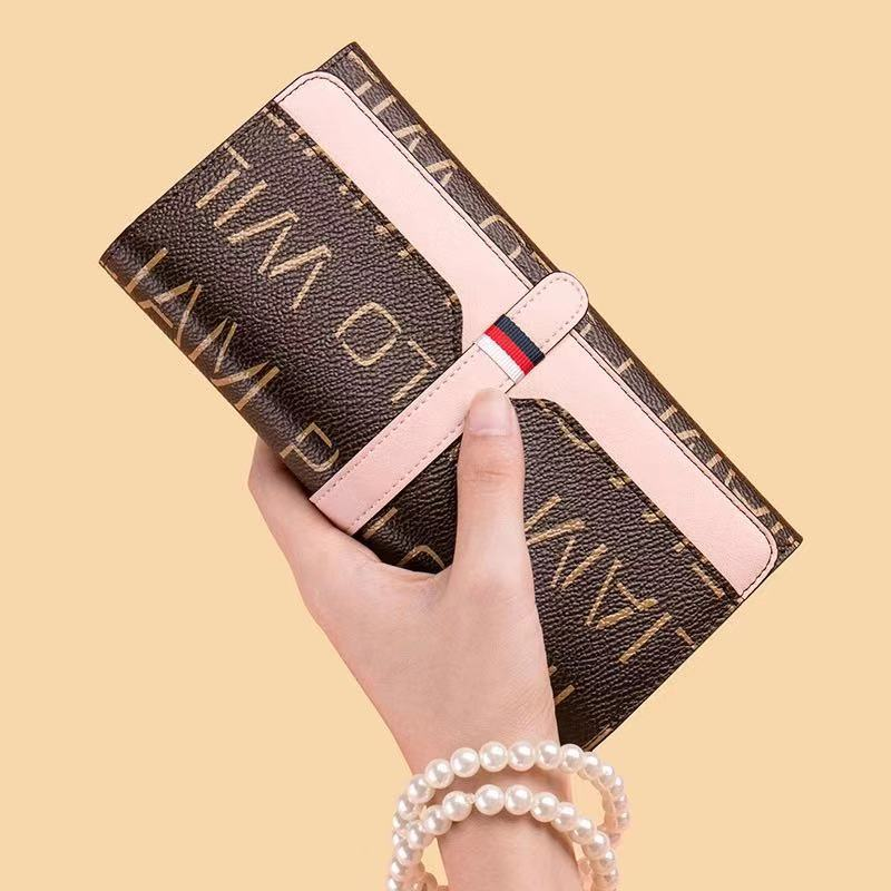 Luxury Brand Men Women Wallet Clutch Wallet Phone X Pocket Purse Card Holder Patchwork Long Section Clutch Fashion Wallets 2019