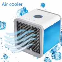 USB Portable LCD Air Conditioner Humidifier Purifier Air Cooler 7 Colors Light Desktop Air Cooling Cooler Fan For Home Office