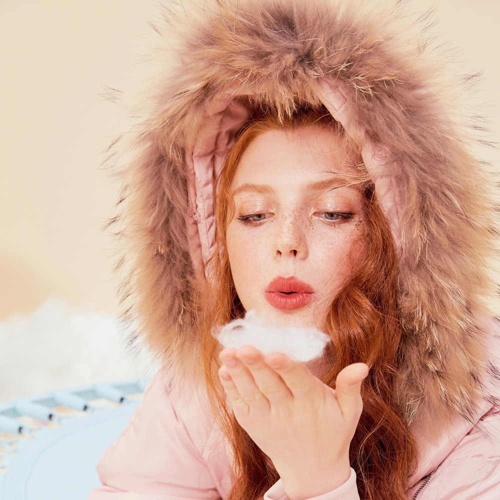 Metersbonwe Lange Warm Donsjack Vrouwen Winter Warm 90% Witte Eendendons Hooded Vrouwelijke Lange Jas Winter Uitloper 603861