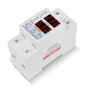 Image 3 - Relé de protección contra sobrevoltaje 63A 220V 230V, protección contra sobrevoltaje y bajo voltaje, dispositivo de sobrevoltaje ajustable