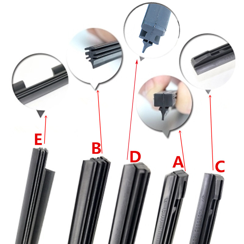 Limpa pára-brisas inserção tira de borracha recarga cinco tipos para toyota volkswagen volvo kia bmw lâmina de limpador carro acessórios do veículo