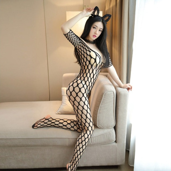 Women Transparent Large Mesh Erotic Underwear Plus Size Nightwear Porn Babydoll Fishnet Sexy Lingerie Costumes Sex Products - discount item  36% OFF Exotic Apparel