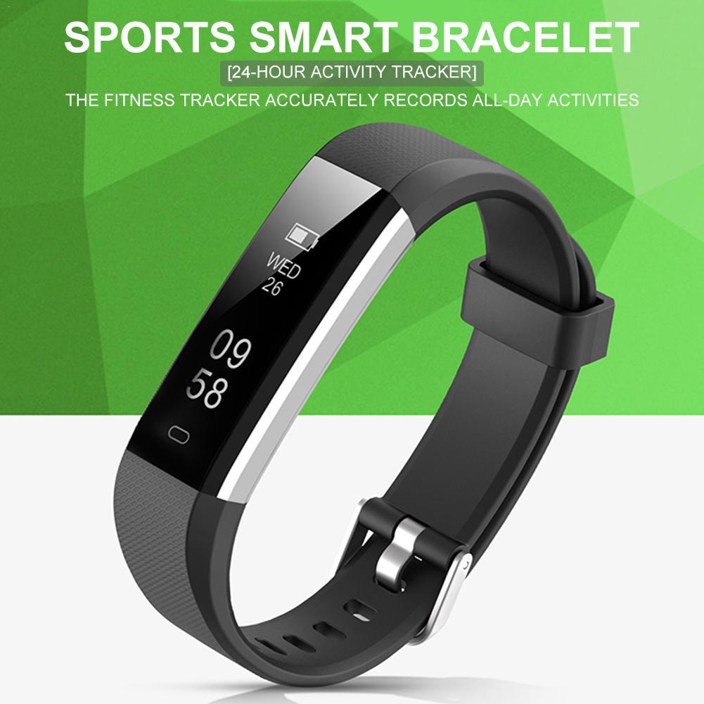 Bluetooth Smart Bracelet Sleep Monitoring Black Technology Waterproof Sports Step Band Watch