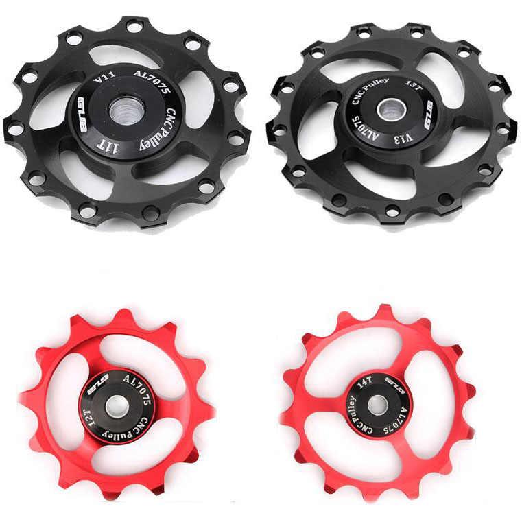 Gub 11t 12t 13t 14t mtb roda traseira, desviador para bicicleta jockey 9/10/11 guia de velocidade polia liga cnc para bicicleta shimano sram