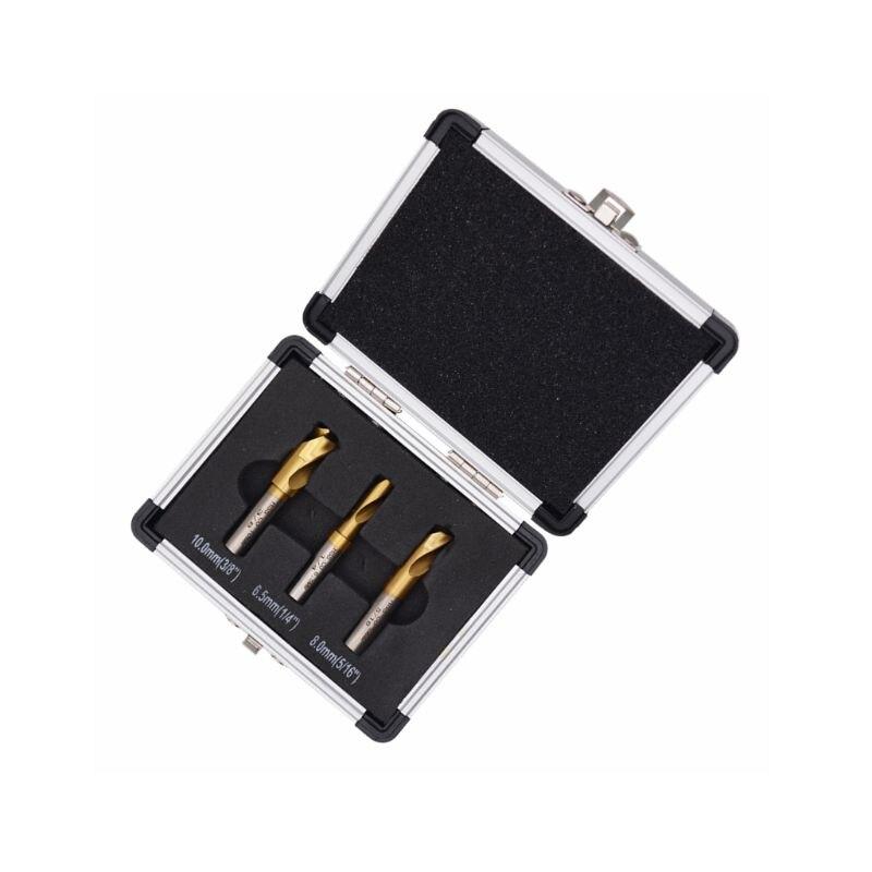 Купить с кэшбэком 3pcs HSS CO Titanium Spot Weld Cutter Welding Drill Bit High Speed Steel Shaft