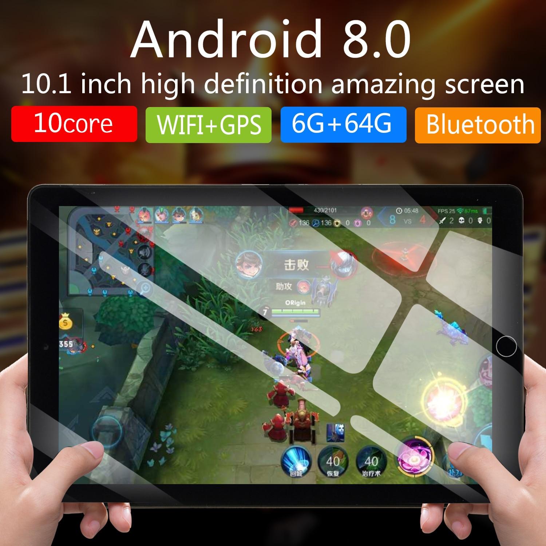 NEW 10 Inch Tablet Pc Quad Core Original Android 8.0 6GB RAM 64GB ROM IPS Dual SIM Phone Call Tab Phone Pc Tablets