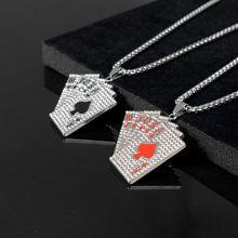 Женское Ожерелье с кристаллами в виде покера подвеска картой