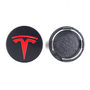 Image 4 - FOR TESLA MODEL X S 3 car styling XWC1385 01 Auto Accessories 56MM 58MM Badge Wheel Center cap cover emblem