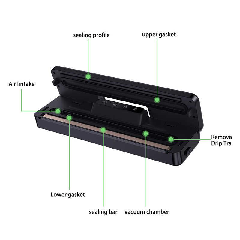 Elektryczny ręczny zgrzewarka spożywcza FoodSaver przechowywania żywności uszczelniacz próżniowy z pełnym zestawem startowym (15 sztuk torby + pompa + instrukcja + pompa)