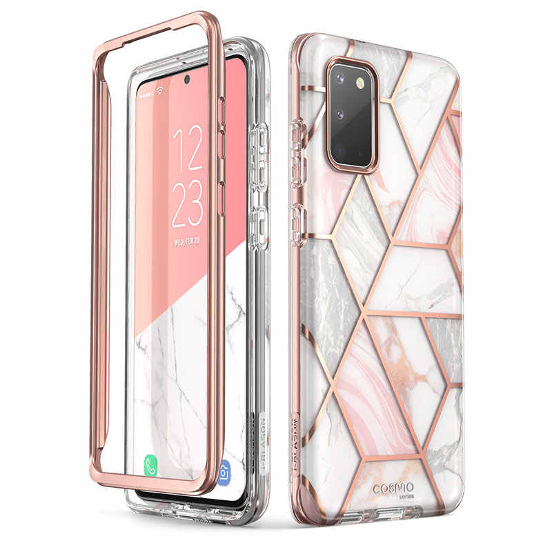 For Samsung Galaxy S20 Case / S20 5G Case i-Blason Cosmo Full-Body Glitter Marble Bumper Cover WITHOUT Built-in Screen Protector