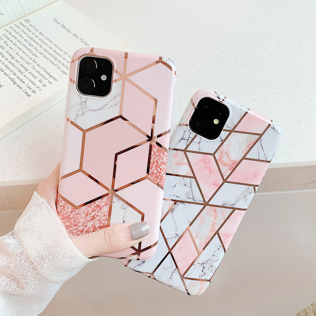 Marble Plating Case for iPhone SE (2020) 4