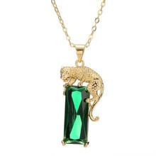 14K Gold Color Emerald Necklaces Women Silver 925 Jewelry Pierscionki Bizuteria Natural Emerald Gemstone Pendant Necklace Female