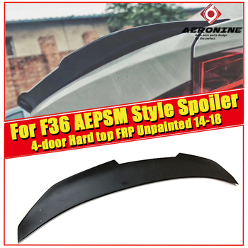 F36 Spoiler wings Lip FRP Unpainted PSM Style For BMW 4 series 4-door Hard top 420i 430i 435i rear trunk wing 14-18