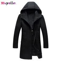 Men's Woolen Coat Men Winter And Autumn Plus Size casual cloth Slim Coat Man Winter Fashion Simple Style Trend Long Outercoat