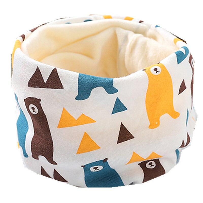Осенне-зимний детский хлопковый плюшевый шарф, детский шарф для девочек, шарфы для мальчиков и девочек, детский воротник, детский волшебный шейный платок с круглым вырезом - Цвет: plush blue bear
