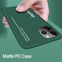Ultra-thin Colorful Matte Hard PC Phone Case For iPhone 11 Pro Max XSmax XR XS X 8 7 6s 6 Plus Cute Shockproof Frosted Cover ultra thin magnetic hard matte pc phone case for iphone 11 pro max se xsmax xr xs x 8 7 6s 6 plus frosted protection cover shell