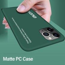 Funda Ultra delgada para teléfono móvil iPhone, carcasa mate a prueba de golpes para iPhone 12 11 Pro Max XSmax XR XS X 8 7 6s 6 Plus