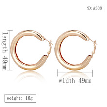 European and American new metal glossy Big Circle Earrings ladies personality fashion exaggerated