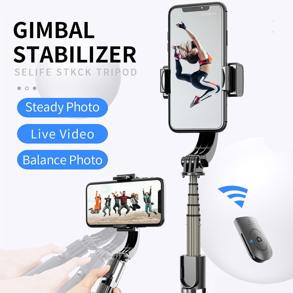 Stativ Selfie Stick Handy Stabilisator Anti-Schütteln Schießen Artefakt Gyro Drahtlose Bluetooth Selfie Stick Für IOS Android