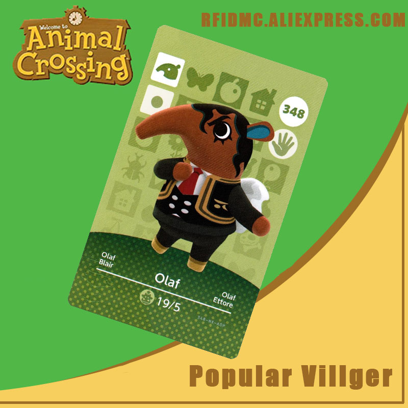 348 Olaf Animal Crossing Card Amiibo For New Horizons