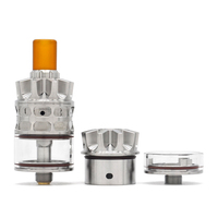 ULTON Rook estilo 22mm RTA Mesh cubierta de algodón 3ml atomizador con alimentador inferior de 1,5 ML Nano tanque para Mods de cigarrillo electrónico
