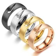 2021 New Fashion Men Women Metal Hollow Polishing Ring Casual Party Hip Hop Plating Harajuku Ring Jewelry