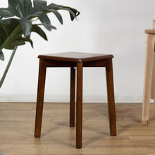 Simple solid wood stool thickened high stool home living room square stool creative plastic stool net red Nordic adult bench