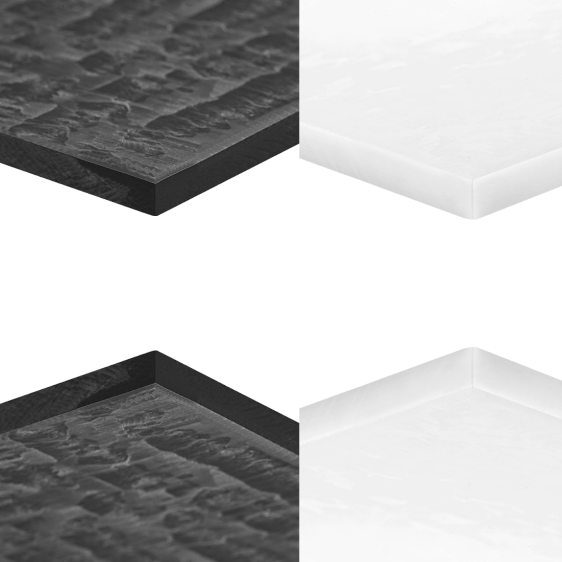 Uxcell Acetal POM Sheet Polyoxymethylene Plate Sheet Black White For Machining And Manufacture Of Precision Parts