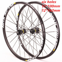 NEW bike Wheels bmx Road Bicycle Bike Wheel 700C 142 12mm six hole and central lock Aluminium Alloy Wheelset Bicycle Wheels Rims