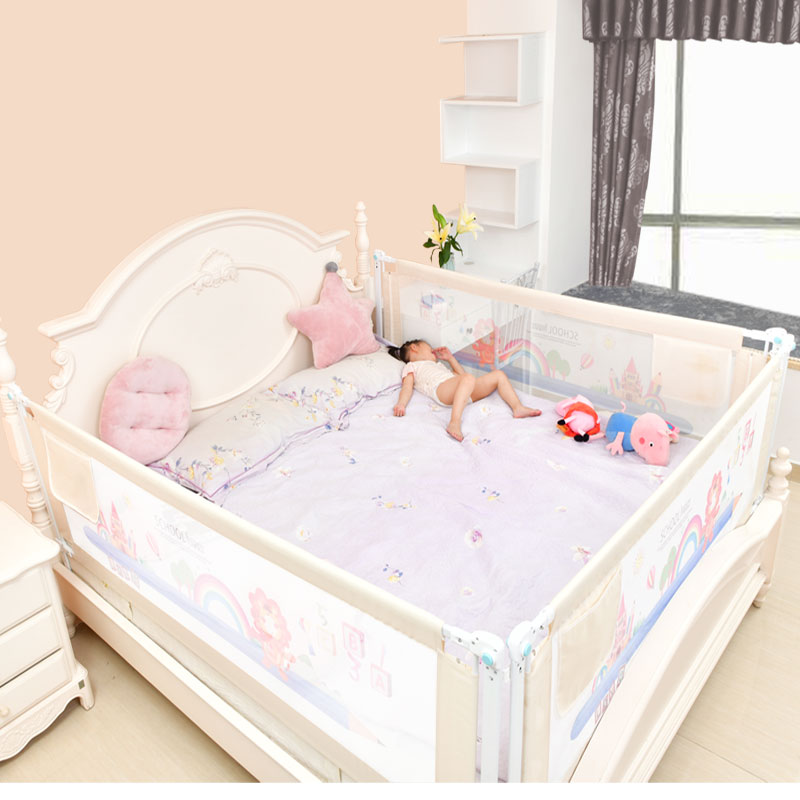 Image 4 - Baby Bed Fence Home Kids playpen Safety Gate Products child Care Barrier for beds Crib Rails Security Fencing Children Guardrail-in Baby Playpens from Mother & Kids