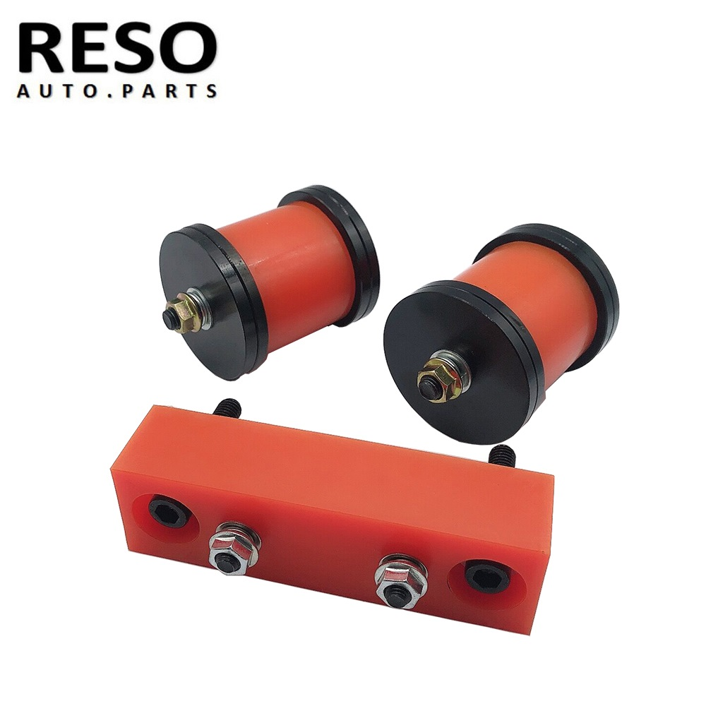 RESO--Engine Transmission Mounts For  NISSAN 89-00 S13 S14 180SX 200SX 240SX SR20 KA24 Polyurethane