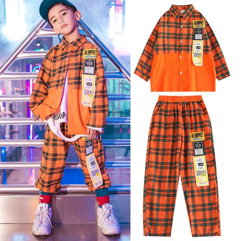 Children'S Street Dance Costumes Hip Hop Clothing For Boys  Jazz Dance Costumes Hiphop Hip Hop Modern Street Dance Wear DQS3451