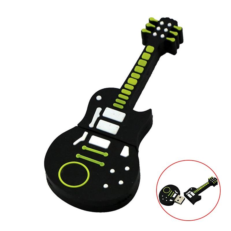 Gitara pamięć usb 4GB 16GB 32 GB Pendrive 64GB 32 GB 128GB 256 gb Pen drive usb2.0 klucz instrument muzyczny smycz pamięć USB