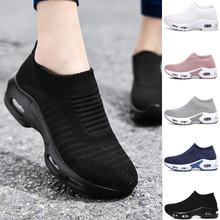 Женские кроссовки без шнуровки; Обувь на массивном каблуке;
